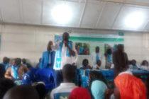 Nord-Kivu :Devant Julien Paluku,la présidente de la ligue des femmes du burec fait preuve de mobilisatrice aguerrie pour les scrutins prochains.