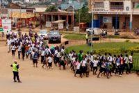 Beni: Paralysie des activités, les élèves manifestent contre l'insécurité.